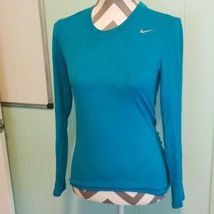 Nike long sleeve blue shirt XS Drifit